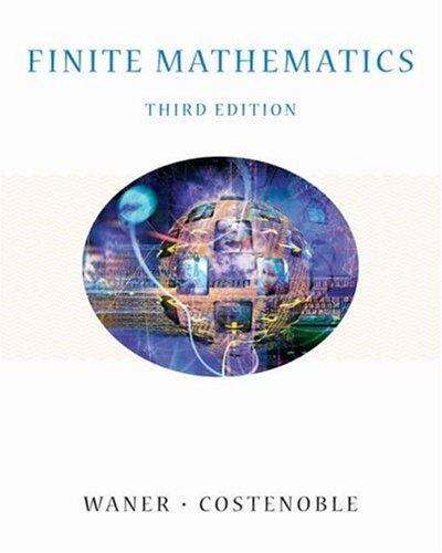 Finite Mathematics [With Infotrac] 9780534419493