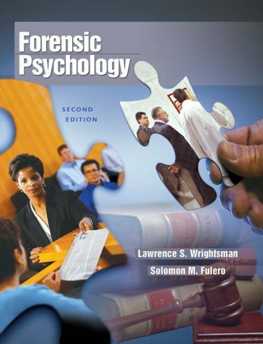 Forensic Psychology (with Infotrac) [With Infotrac] 9780534632250