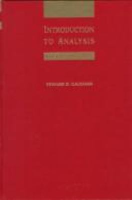 Introduction to Analysis 9780534351779