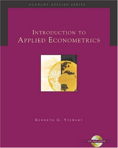 Introduction to Applied Econometrics [With CDROM] 9780534369163