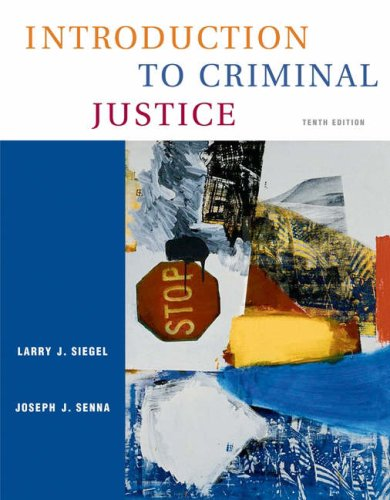 Introduction to Criminal Justice (with CD-ROM and Infotrac) [With CDROM and Infotrac] 9780534629465