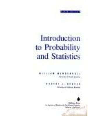 Introduction to Probability and Statistics 9780534208868