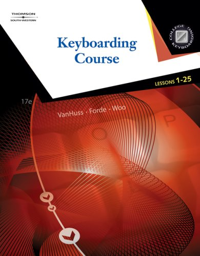Keyboarding Course, Lessons 1-25 9780538730266