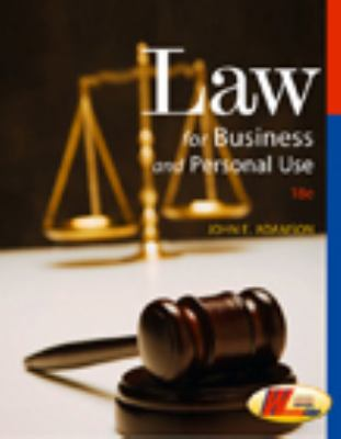 Law for Business and Personal Use 9780538445887