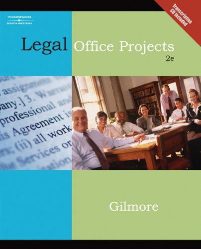 Legal Office Projects [With CDROM] 9780538729338