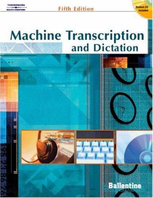 Machine Transcription & Dictation [With CDROM] 9780538438605