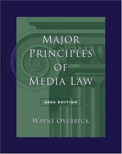 Major Principles of Media Law 9780534619152