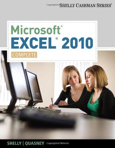 Microsoft Excel 2010, Complete 9780538750059