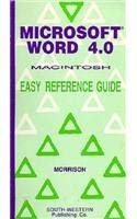 Microsoft Word 4.0, Macintosh: Easy Reference Guide 9780538617581