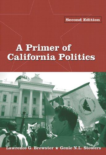 Primer of California Politics 9780534618391