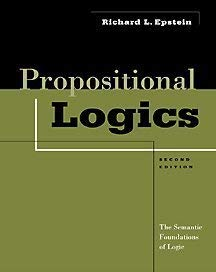 Propositional Logics: The Semantic Foundations of Logic 9780534558475