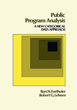 Public Program Analysis: A New Approach to Categorical Data 9780534979744