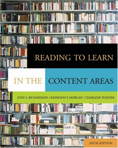 Reading to Learn in the Content Areas [With CDROM and Infotrac] 9780534553388