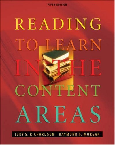 Reading to Learn in the Content Areas [With CDROM and Infotrac] 9780534553098