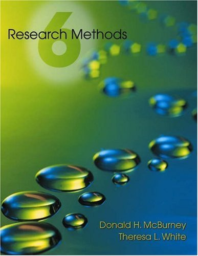 Research Methods [With Infotrac] 9780534524180