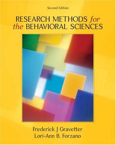 Research Methods for the Behavioral Sciences 9780534558116
