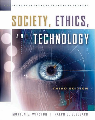 Society, Ethics, and Technology 9780534520854