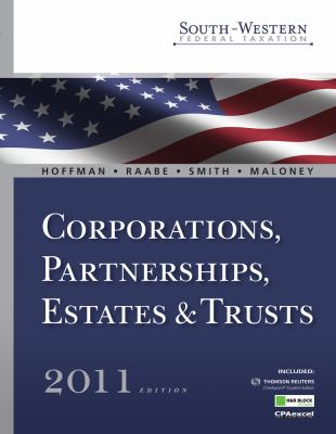 South-Western Federal Taxation 2011: Corporations, Partnerships, Estates and Trusts (with H&r Block @ Home Tax Preparation Software CD-ROM) 9780538469654