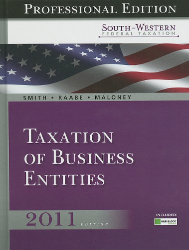 Taxation of Business Entities, Professional Edition [With CDROM] 9780538498616