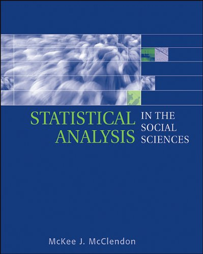 Statistical Analysis in the Social Sciences 9780534637835