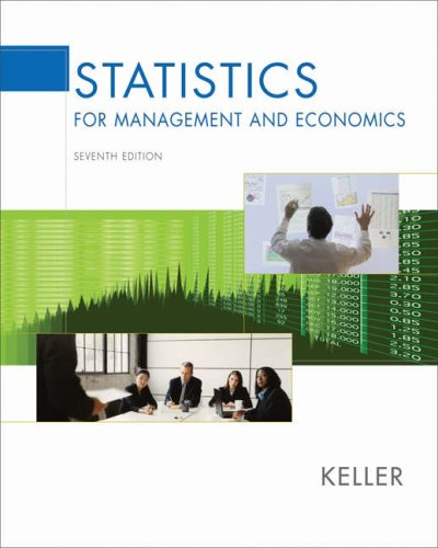 Statistics for Management and Economics [With CDROM] 9780534491246