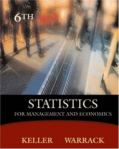Statistics for Management and Economics [With CDROM and Infotrac] 9780534391867