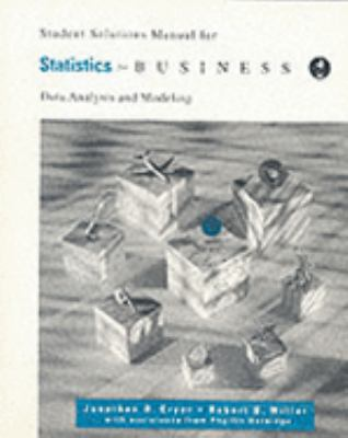 Student Solutions Manual for Cryer/Miller's Statistics for Business, 2nd 9780534203917