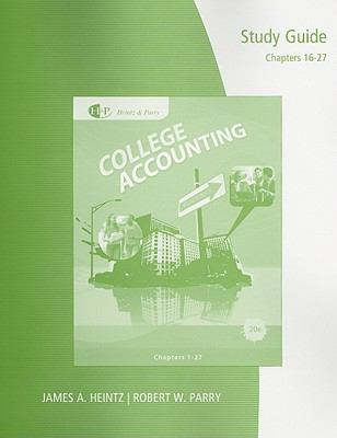 Study Guide with Working Papers, Chapters 16-27 for College Accounting 9780538750707