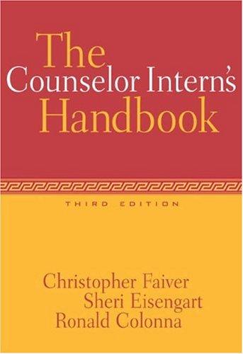 The Counselor Intern's Handbook 9780534528355