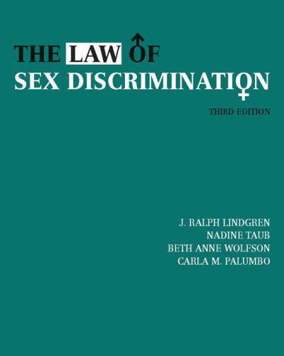 The Law of Sex Discrimination 9780534631260