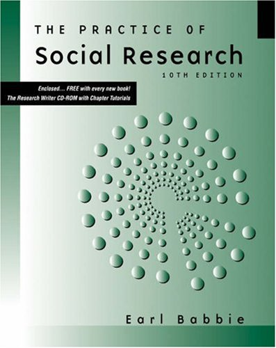 The Practice of Social Research [With CDROM and Infotrac] 9780534620288