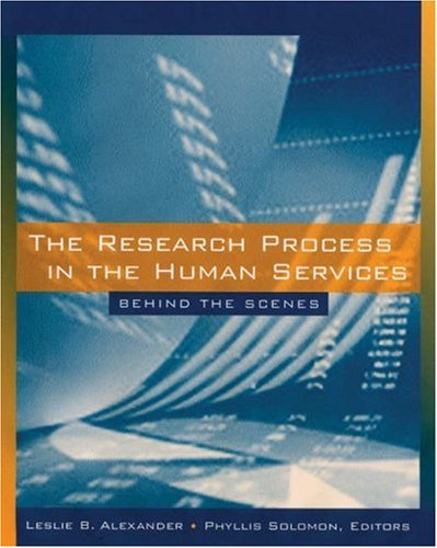 The Research Process in the Human Services: Behind the Scenes 9780534626105