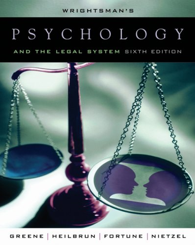Wrightsman's Psychology and the Legal System 9780534521066