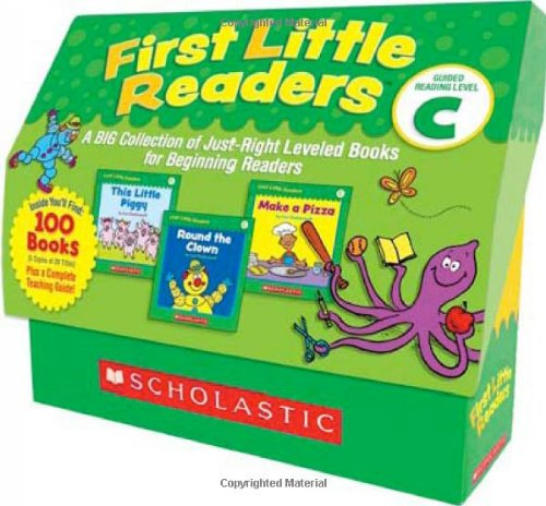First Little Readers: Guided Reading Level C: A Big Collection of Just-Right Leveled Books for Beginning Readers 9780545223034