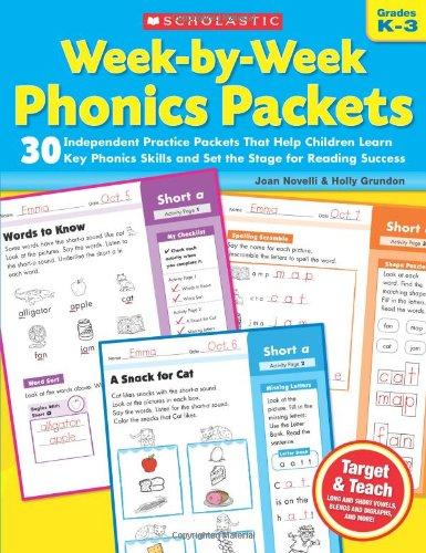 Week-By-Week Phonics Packets: Grades K-3 9780545223041