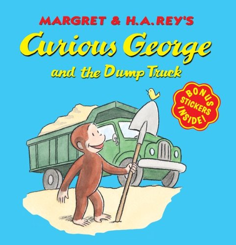 Curious George and the Dump Truck (8x8 with Stickers) 9780547504254