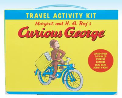 Curious George Travel Activity Kit [With Sticker(s) and Card Game and Crayons and CD (Audio) and Paperback Book and Activity Guide] 9780547258751