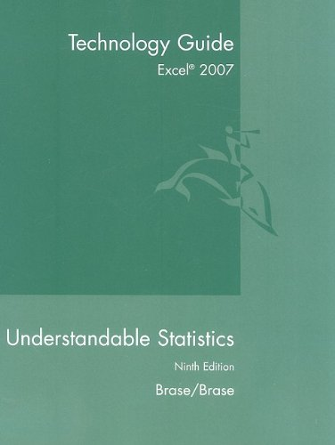 Excel 2007 Guide to Accompany Understandable Statistics 9780547212975