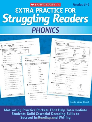 Extra Practice for Struggling Readers: Phonics : Motivating Practice Packets That Help Intermediate Students Build Essential Decoding Skills to Succee
