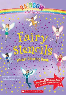 Fairy Stencils Sticker Coloring Book [With Punch-Outs] 9780545105781