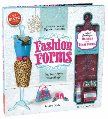 Fashion Forms [With 500 Sequins, 5 Hangers, 3 Dress Stands, Clear Cord and Stencils and 18 Plastic Pattern Pieces 9780545449359