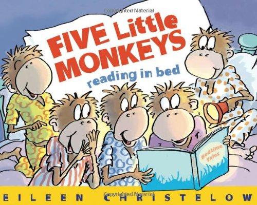 Five Little Monkeys Reading in Bed 9780547386102