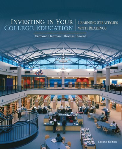Investing in Your College Education: Learning Strategies with Readings 9780547199856