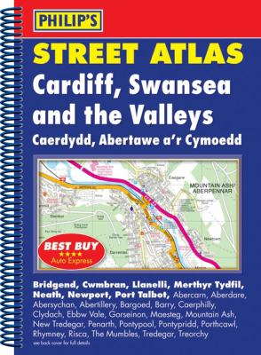 Philip's Street Atlas Cardiff, Swansea and the Valleys 9780540091652