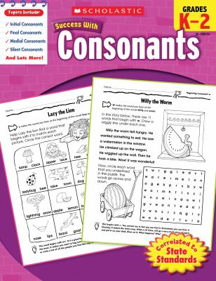 Scholastic Success with Consonants, Grades K-2 9780545201148