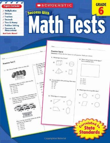 Math Tests, Grade 6 9780545201117