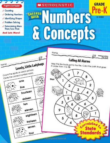 Scholastic Success with Numbers & Concepts, Grade Pre-K 9780545200851