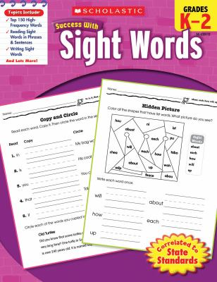 Scholastic Success with Sight Words, Grades K-2 9780545201124