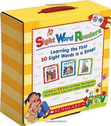 Sight Word Readers Boxed Set: Learning the First 50 Sight Words Is a Snap! [With Mini-Workbook]
