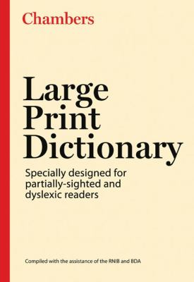 Chambers Large Print Dictionary 9780550101648